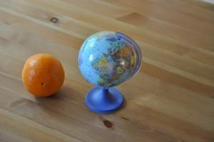 globus i pomarańcza
