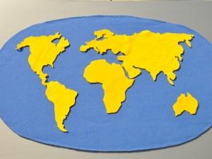 mapa świata polar