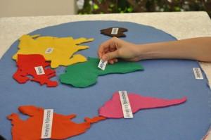 mapa świata nazwy kontynentów