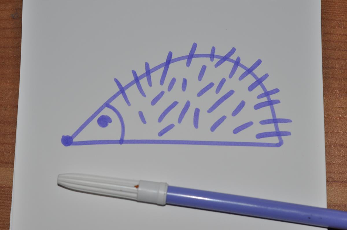 Narysować jeża