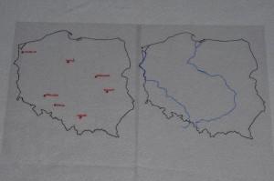 miasta nad Wisła i Odra