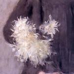 Boznanska Olga Dziewczynka_z_chryzantemami kwiaty