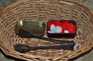 szczypce i pompony