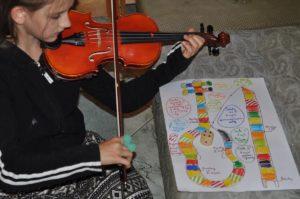 gra w skrzypce