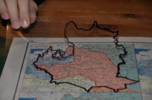mapa Polski rozbiory