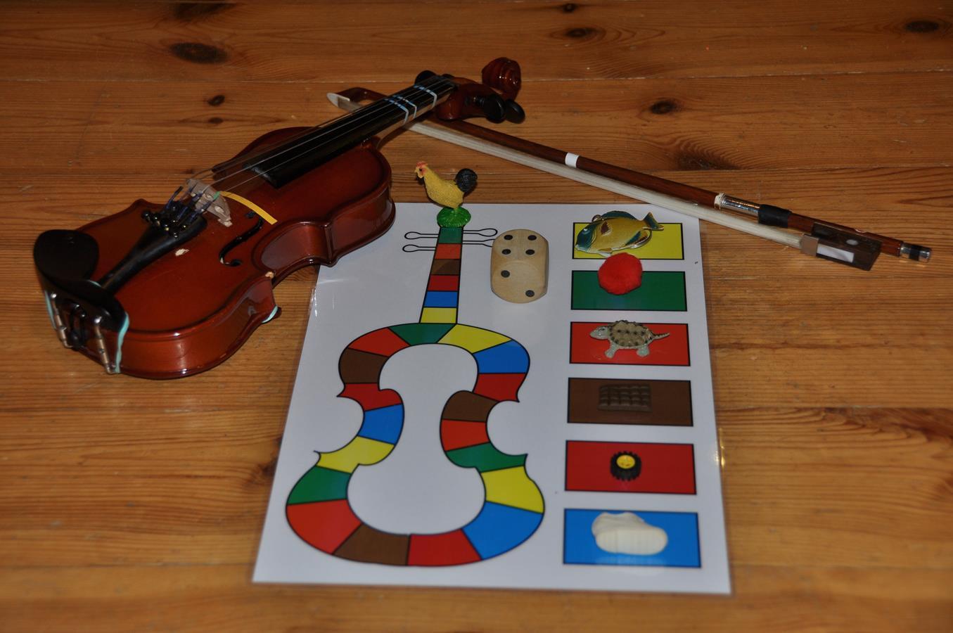 Gra 'skrzypce' z rzeczami