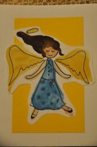 akwarelowy aniołek