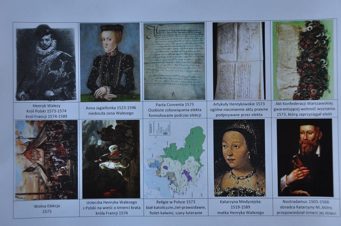 Henryk Walezy - karty